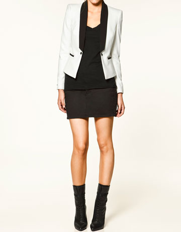 White Black Blazer