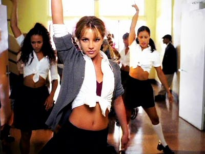 "Britnesy Spears in ""Hit Me Baby One More Time"" Music Video"