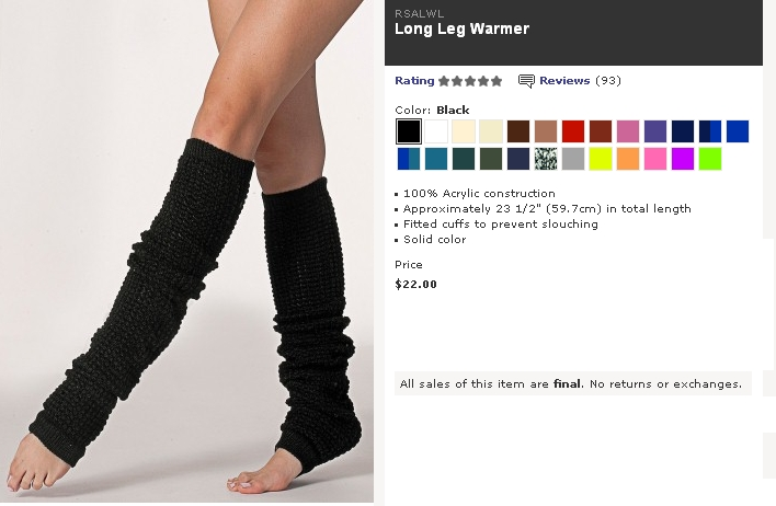 Fucked Leg Warmer 46