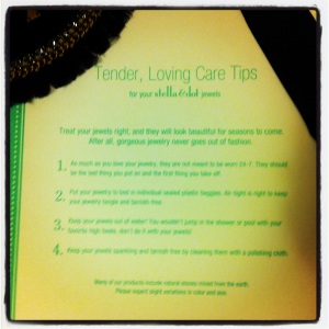 Stella & Dot Care Instructions