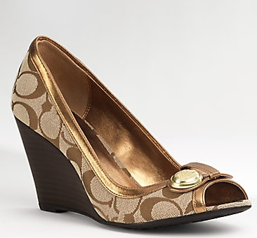 coach wedges on sale