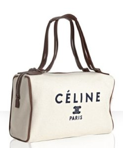Boston Bag in Cream  by Celine