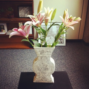 Lillies in a Molly Hatch Vase