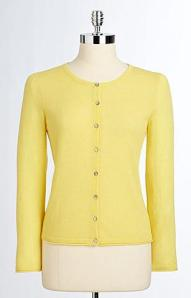 Cashmere Cardigan in Yellow - Lord & Taylor