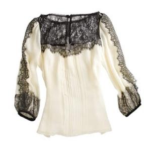 nanette lepore - lace blouse