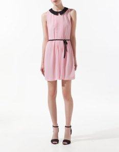 Pink Pleated Dress by Zara